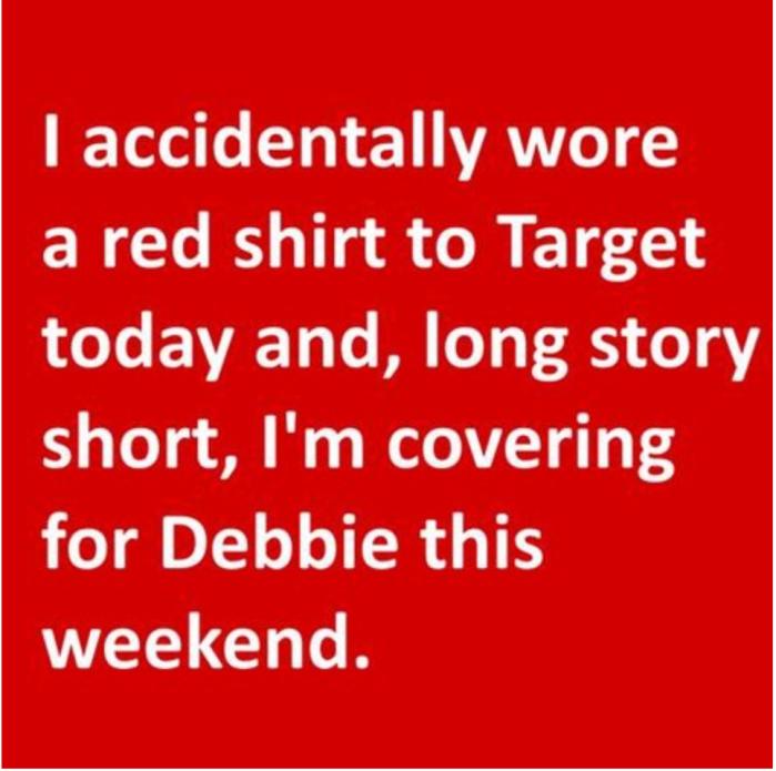 target red shirt