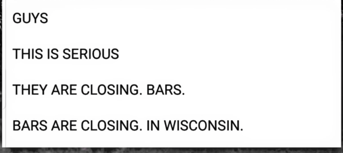 Closing bars in Wisconsin