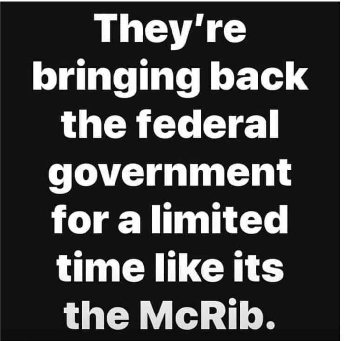 Federal Gov't McRib