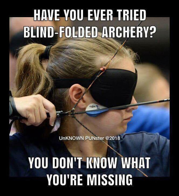 Blindfolded archer