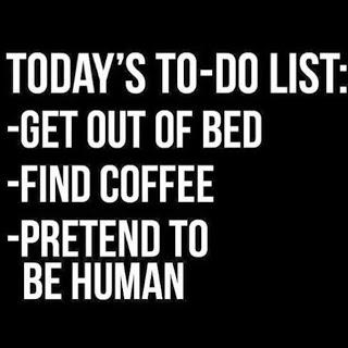Coffee-to do list