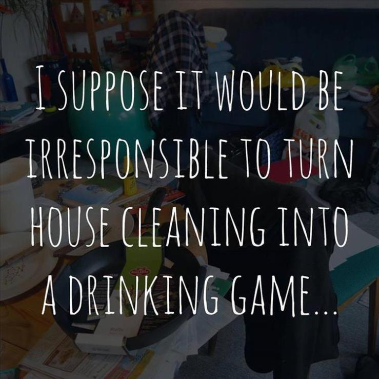Housecleaning-Drinking game