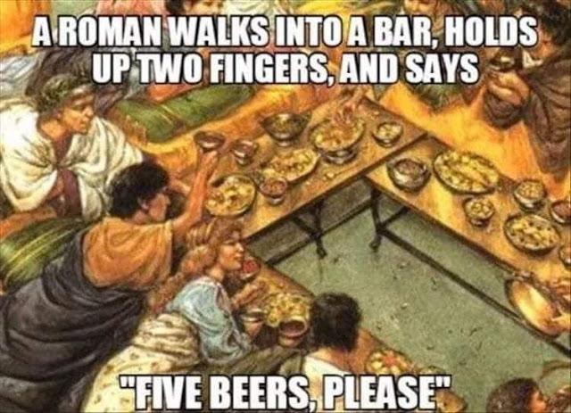 Roman numeral beer