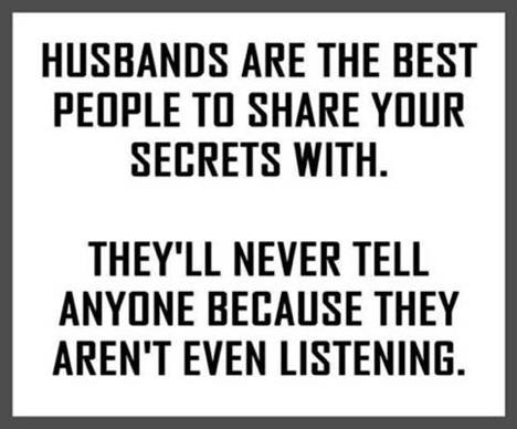 Wedded bliss-husbands never listen