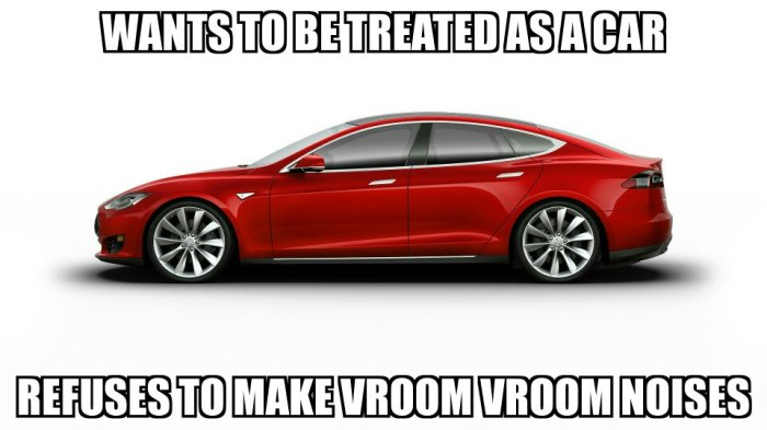 Tesla VROOM VROOM