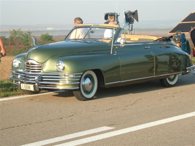 Tito's Packard being filmed