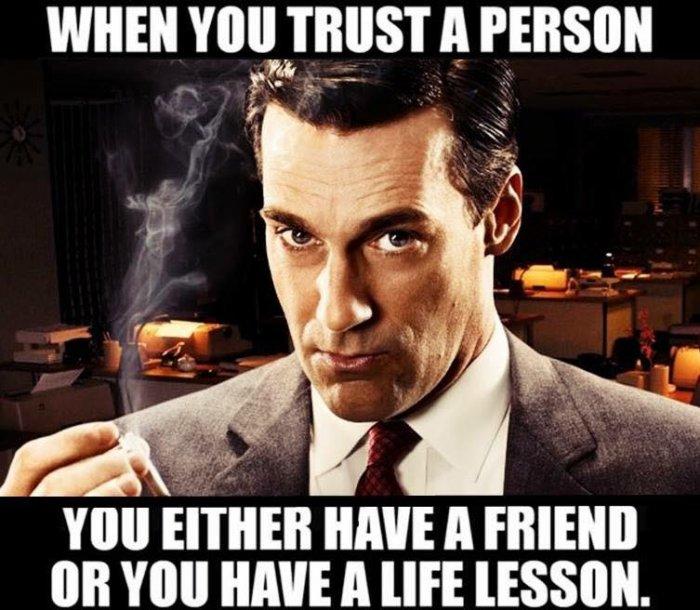 Trust-life lesson