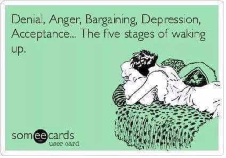 5 stages of waking up