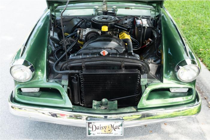62 Studebaker GT Hawk-engine compartment