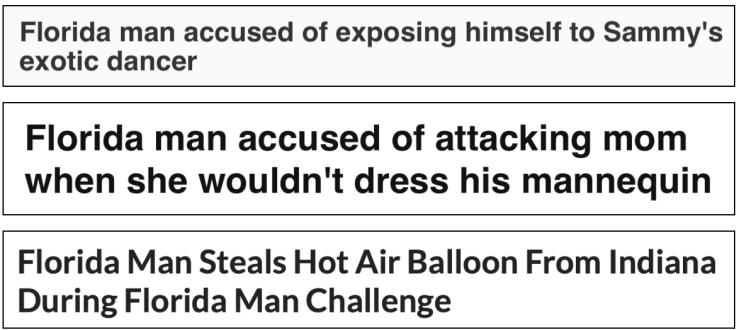 Floriduh headlines