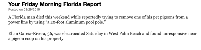 Friday morning Florida report