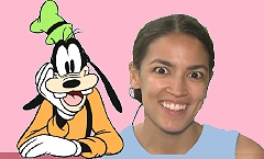 Separated at Birth-AOC and Goofy