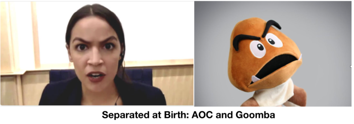 Separated at Birth-AOC and Goomba