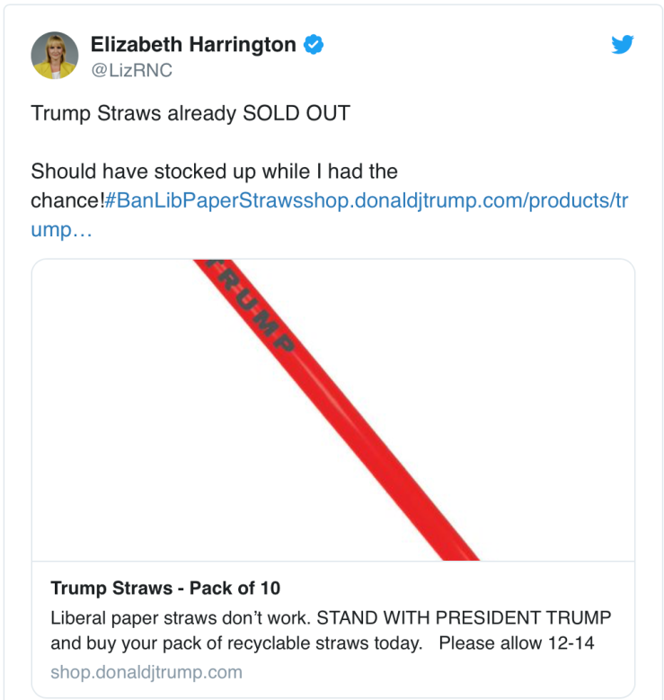 Trump straws tweet