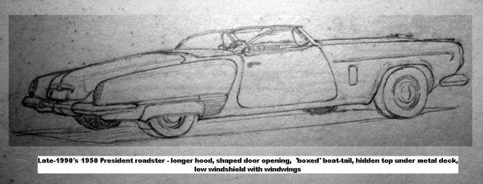 '50 President roadster sketch '80's