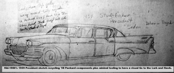'59 President sketch '80's