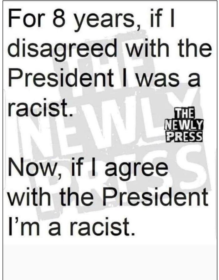 Agree w:President=racism
