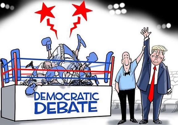 dem debate - Trump wins