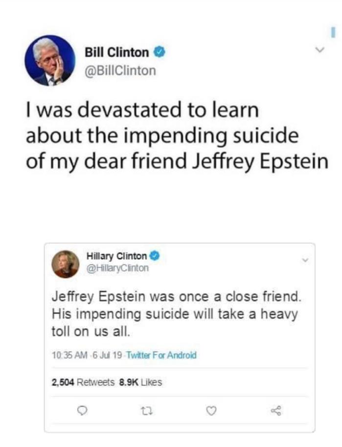 Epstein Suicide-Clinton