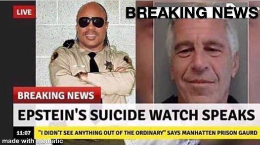 Epstein-suicide watch speaks
