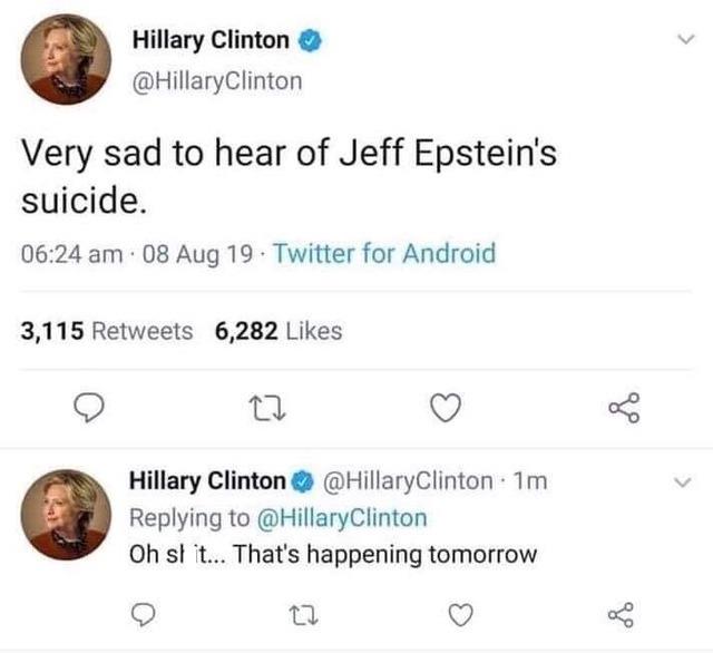 Hitlery-Epstein's Suicide