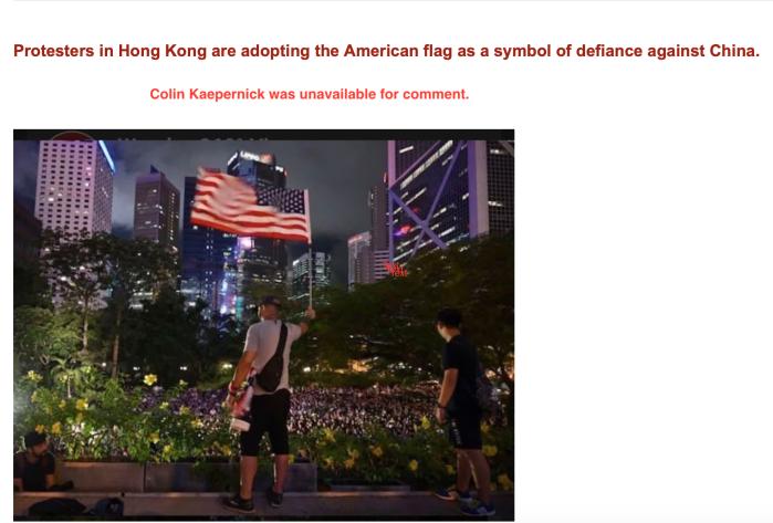 Hong Kong Protestors-American Flag