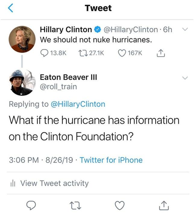 Hurricane-Clinton Foundation
