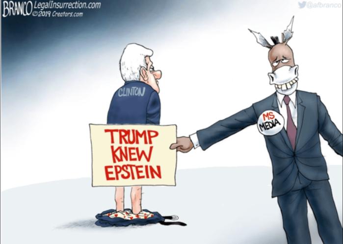 'Rats: Trump knew Epstein