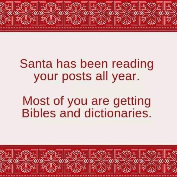 Santa-Bibles-Dictionaries