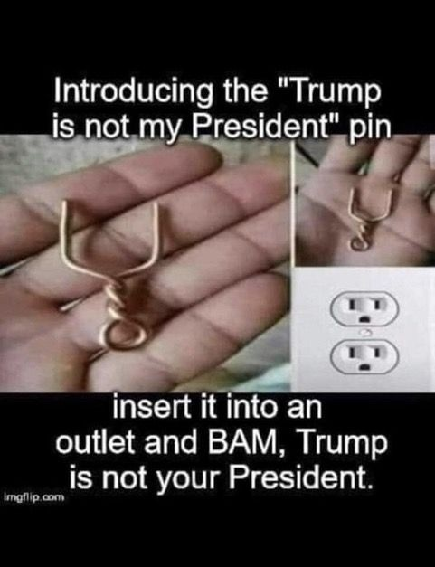 Trump Is Not My President Pin