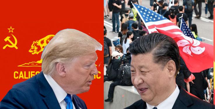 Trump swaps California for Hong Kong
