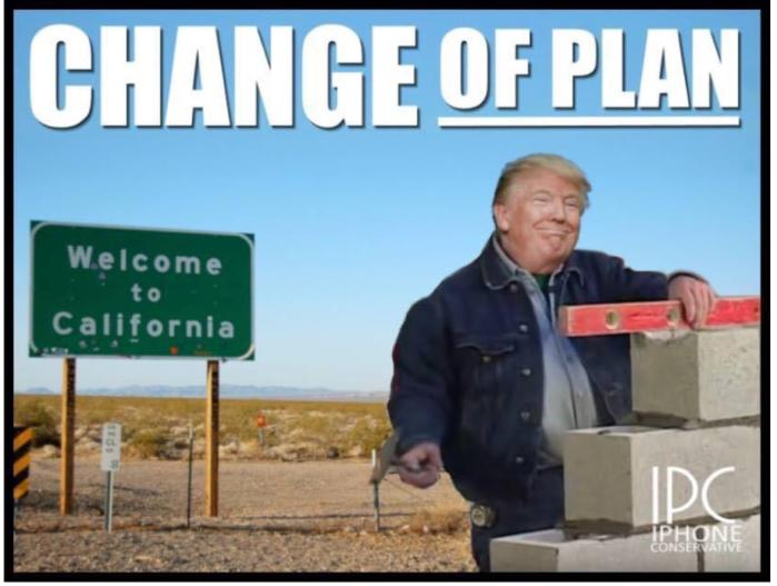Trump walls off California