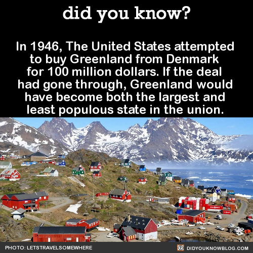 US tried to buy Greenland in 1946