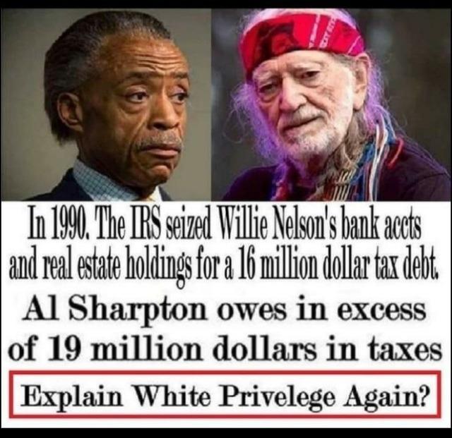 Al Sharpton's taxes
