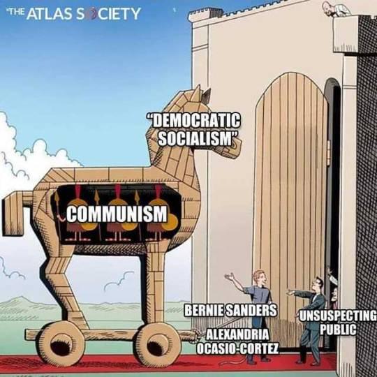 Democratic Socialism Trojan horse