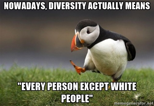 Diversity-white people