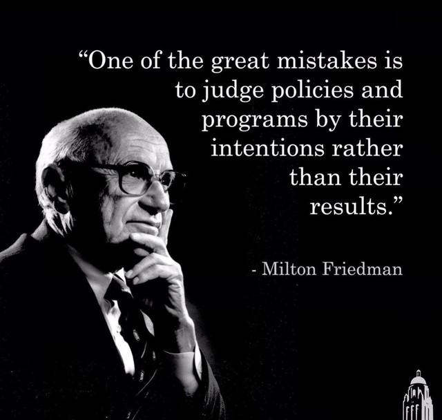 Friedman-program intentions