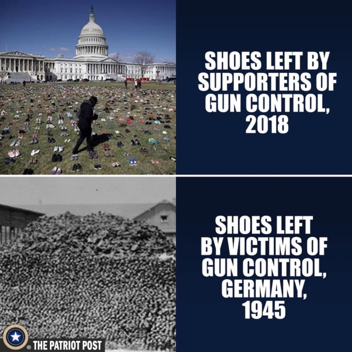 Gun control shoes