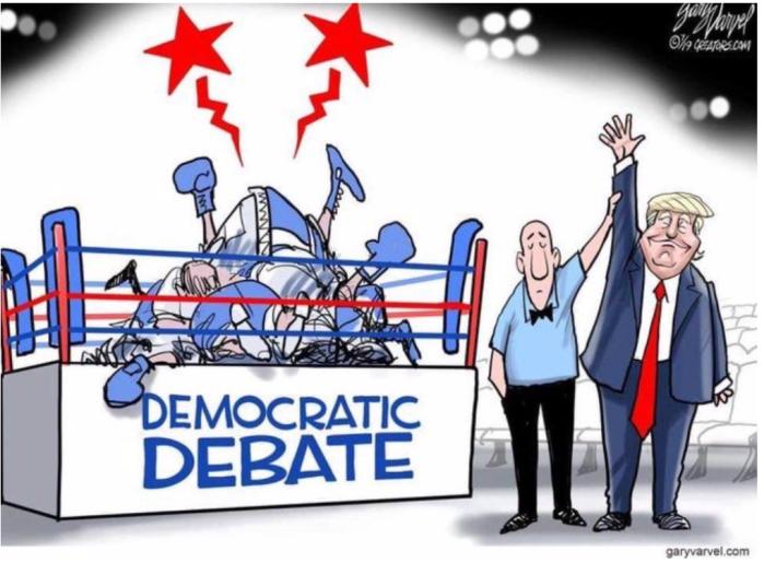 Trump wins Dem debate