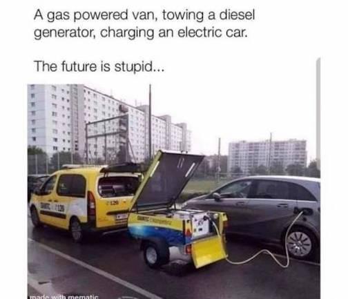 AAA-charging electric car