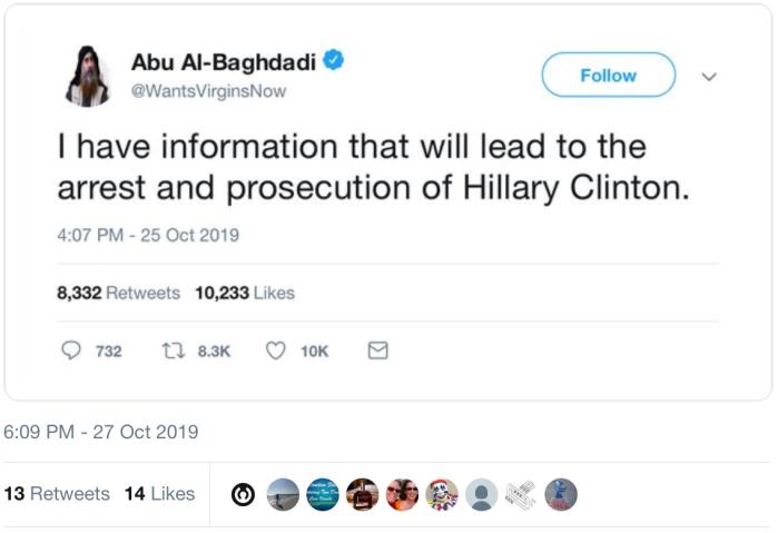 Al-Baghdadi tweet-hitlery