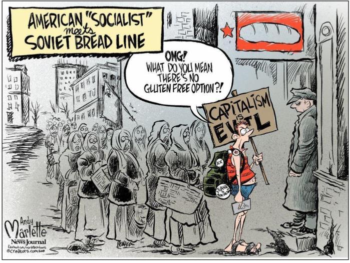 American Socialsit-Soviet Bread Line