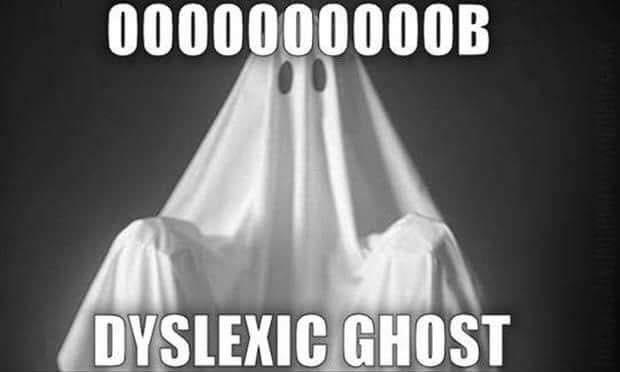 Dyslexic ghost