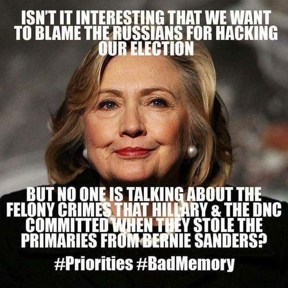 Hitlery stole Bernie's primary