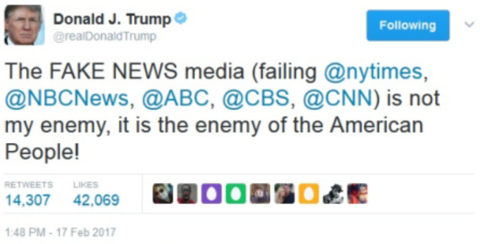 PDJT-Fake News is enemy of American people