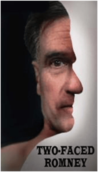 Romney 2 faces