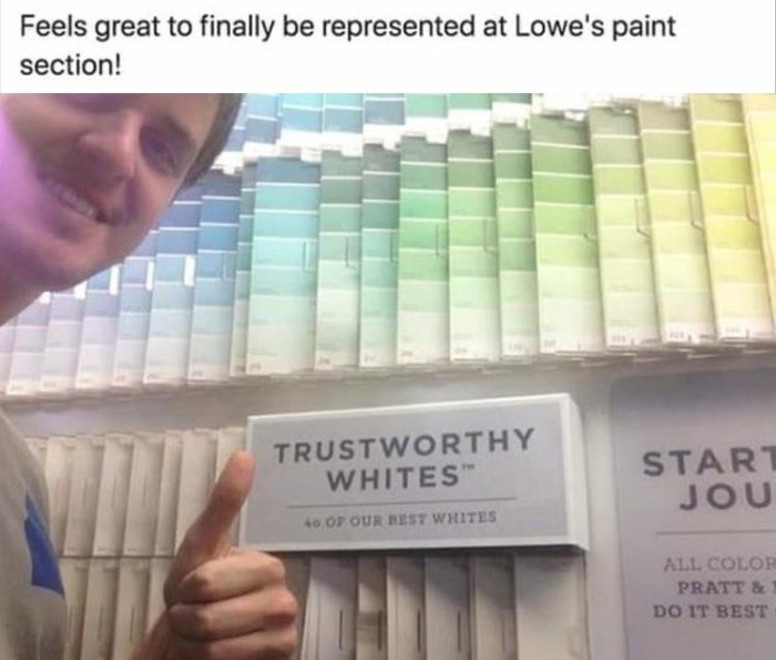 Trustworthy whites