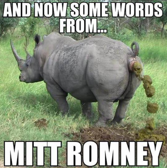 Words from Romney