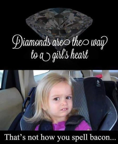 Bacon and diamonds