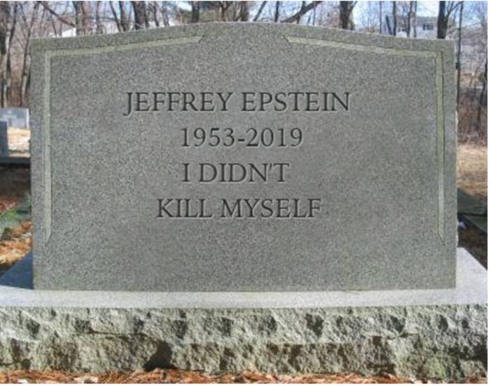 Epstein tombstone